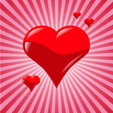 Red heart. Royalty Free Stock Photo