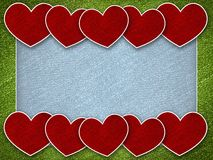 Red heart on valentine card background Royalty Free Stock Images