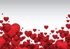 Red heart valentine card vector Royalty Free Stock Photo