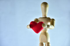 Red heart. For valentine day Royalty Free Stock Image