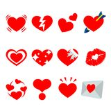 Red Heart Valentine I Love You Sweetheart Icon Symbol Vector. Design Royalty Free Stock Image