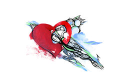 Red heart, valentine Royalty Free Stock Photo