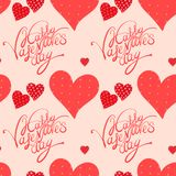 Red heart, valentine's day background Stock Image