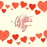 Red heart, valentine's day background Royalty Free Stock Photos