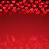 Red Heart Valentine`s day background Stock Photography