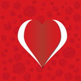 Red heart Valentine's day card Royalty Free Stock Image
