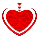 Red heart. Valentine`s day greeting card. Vector. Illustration Royalty Free Stock Photos