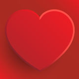 Red Heart - Valentine's Day Illustration Stock Image
