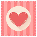 Red heart for Valentine's Day. Vector illustration of flat design Stock Photography