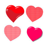 Red heart valentine. On white background.Vector. Illustrator Stock Images