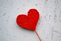 Valentine red heart Stock Photography