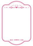 Valentine paper border Royalty Free Stock Images