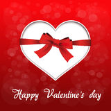 Red heart - valentines day background Royalty Free Stock Photos