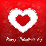 Red heart - valentines day background Royalty Free Stock Photo