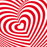 Red heart Valentines day card. Three-dimensional volumetric image Stock Image