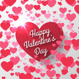 Red heart Valentines day Stock Image