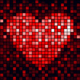 Red heart, vector Royalty Free Stock Photo