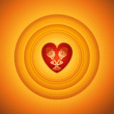 Red heart,vector Stock Image