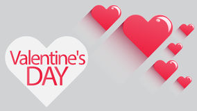 Red Heart  Vector Background full hd. Vector Background Valentine`s day is happy Stock Images