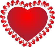 Red heart. A vector drawing represents red heart design Royalty Free Stock Images