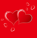 The red heart Stock Image