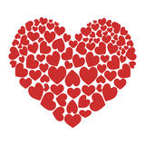 Red heart vector icon Stock Photography