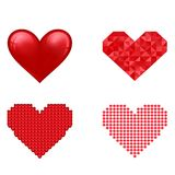 Red heart vector icon Royalty Free Stock Image