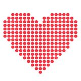 Red heart vector icon Royalty Free Stock Images