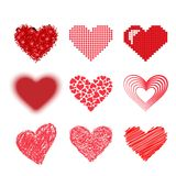 Red heart vector icon Royalty Free Stock Photography