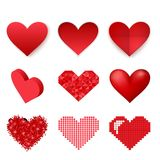 Red heart vector icon Stock Photos