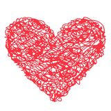 Red heart vector icon Stock Image