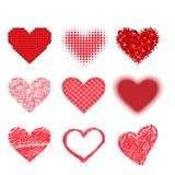 Red heart vector icon Royalty Free Stock Photos