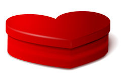 Red heart vector shape box Stock Photos