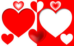 Red heart Royalty Free Stock Photos