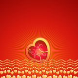 Red heart,vector, valentines Royalty Free Stock Images