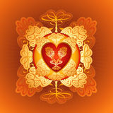 Red heart,vector, valentines Stock Photography