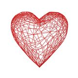 Red heart vessel. Isolated on white background Stock Photography