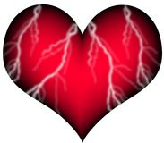 Red heart with vessels Royalty Free Stock Photo