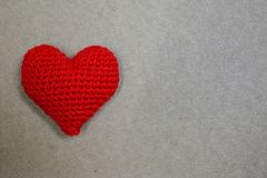 Red heart on paper with copyspace Royalty Free Stock Images