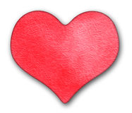 Red heart watercolor Stock Image