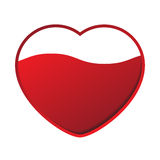 Red heart with wave Royalty Free Stock Photo