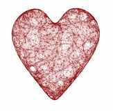 Red heart of the web Royalty Free Stock Image