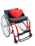 Red heart and wheelchair Stock Image