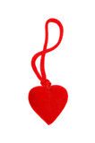 Red heart on a white. Background Royalty Free Stock Photos