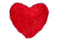 Red heart on white Stock Photography