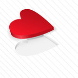 Red heart on a white Stock Photos