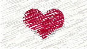 Red heart on white abstract animation stock video