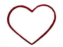 Red Heart on white background stock photography