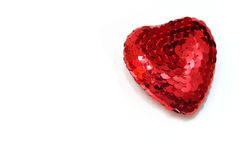 Red heart on the white background Royalty Free Stock Photo