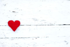 Red heart on a white background Royalty Free Stock Images